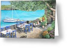 Taverna On Crete  Greeting Card