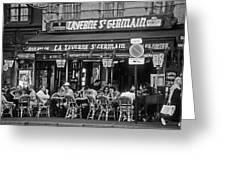 Taverne St. Germain, Paris Greeting Card