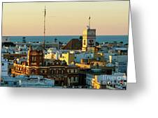 Tavira Tower And Post Office From West Tower Cadiz Spain Greeting Card