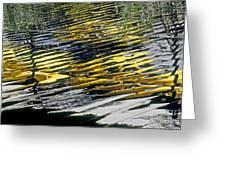 Taxi Abstract Greeting Card by Tony Cordoza