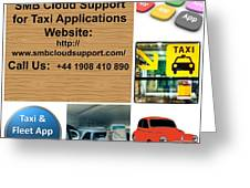 Taxi Booking Application Greeting Card