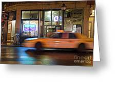 Taxi Cab, Portland, Maine  -17754 Greeting Card