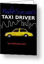 Taxi Driver Movie Poster Greeting Card