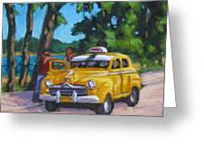 Taxi Y Amigos Greeting Card