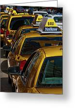 Taxis Wait Greeting Card