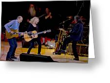 Taylor King And Group In Concert Greeting Card