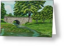 Taylor Lake Stone Bridge Greeting Card