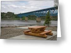 Taylor Peace River Bridge Greeting Card