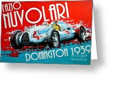 Tazio Nuvolari Auto Union D Donnington 1939 Greeting Card