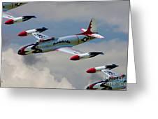 Tbirds Lockheed T-33 Shooting Star Greeting Card
