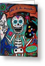 Te Amo Painter Dia De Los Muertos Greeting Card