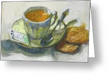Tea And Biscuits Greeting Card