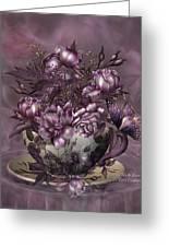 Tea And Roses Greeting Card
