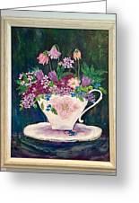 Tea Cup Bloom Greeting Card