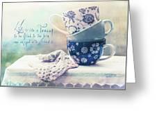 Tea For Three Greeting Card