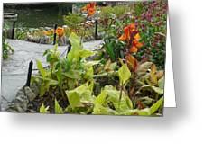 Tea Garden At San Antonio Zoo Crosswalk Greeting Card