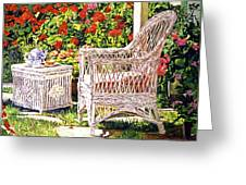 Tea Time Greeting Card by David Lloyd Glover