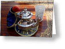 Tea Time Greeting Card by Valia Bradshaw