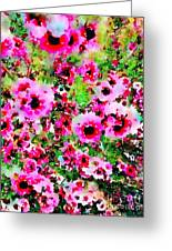 Tea Tree Garden Flowers Greeting Card