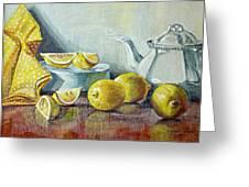 Tea With Lemon Greeting Card