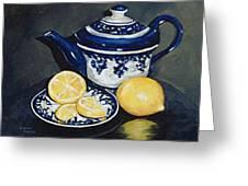 Tea With Lemons  Greeting Card