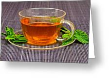 Tea With Mint Greeting Card