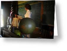 Teaching Globe Greeting Card