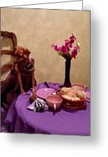 Teagun Rose French Cafe 3 Greeting Card