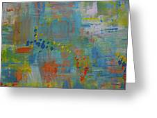 Teal Abstract, A New Look Again Greeting Card