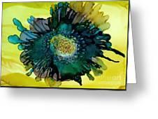 Teal Bloom Greeting Card
