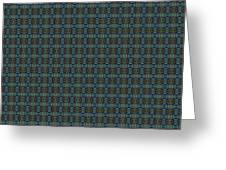 Teal Diamond Crackle From Sunset Strip Greeting Card