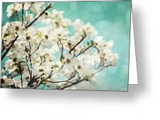 Teal Dogwood No. 1 Greeting Card