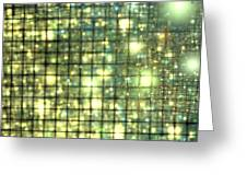 Teal Gold Cubes Greeting Card