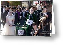 Team 55 At Emma Crawford Coffin Races In Manitou Springs Colorado Greeting Card