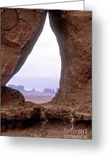Teardrop Arch-monument Valley Greeting Card