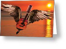 Teardrops On My Guitar Rocks Greeting Card by Eric Kempson