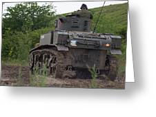 Tearing It Up - M3 Stuart Light Tank Greeting Card