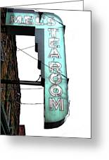 Tearoom Sign Greeting Card