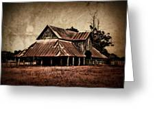 Teaselville Texas Barns Greeting Card