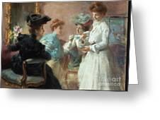 Teatime In My Living Room In Via Senato Greeting Card