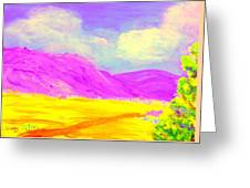 Technicolor Desert Greeting Card