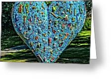 Technicolor Heart Greeting Card