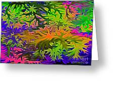Technicolor Leaves Greeting Card