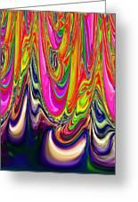 Technicolor Magma Greeting Card