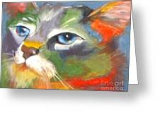 Technicolor Tabby Greeting Card