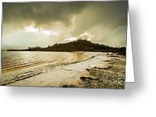 Teds Beach At Dusk Greeting Card