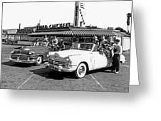 Teens At A Drive In 2 Greeting Card