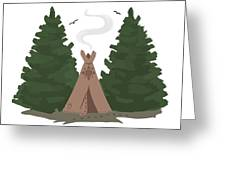 Teepee In The Woods Greeting Card