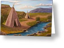 Teepees On The Plains Greeting Card