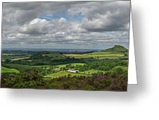 Tees Plain And Roseberry Topping Greeting Card